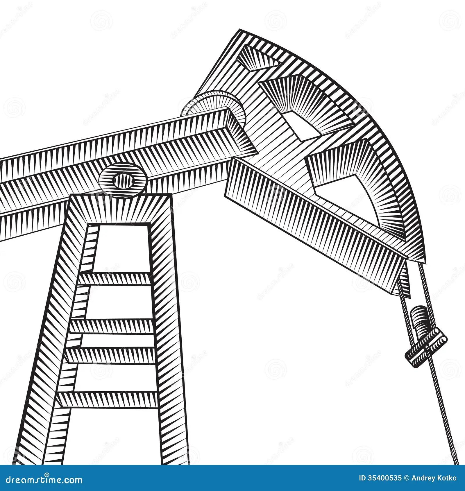 Oil Pump Jack Stock Vector Image Of Illustration Mining