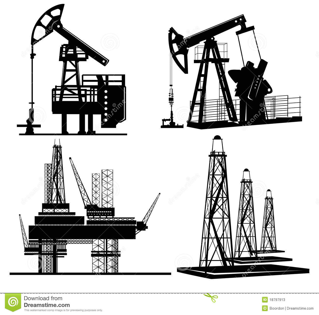 Oil silhouette hand drawn stock vector. Illustration of
