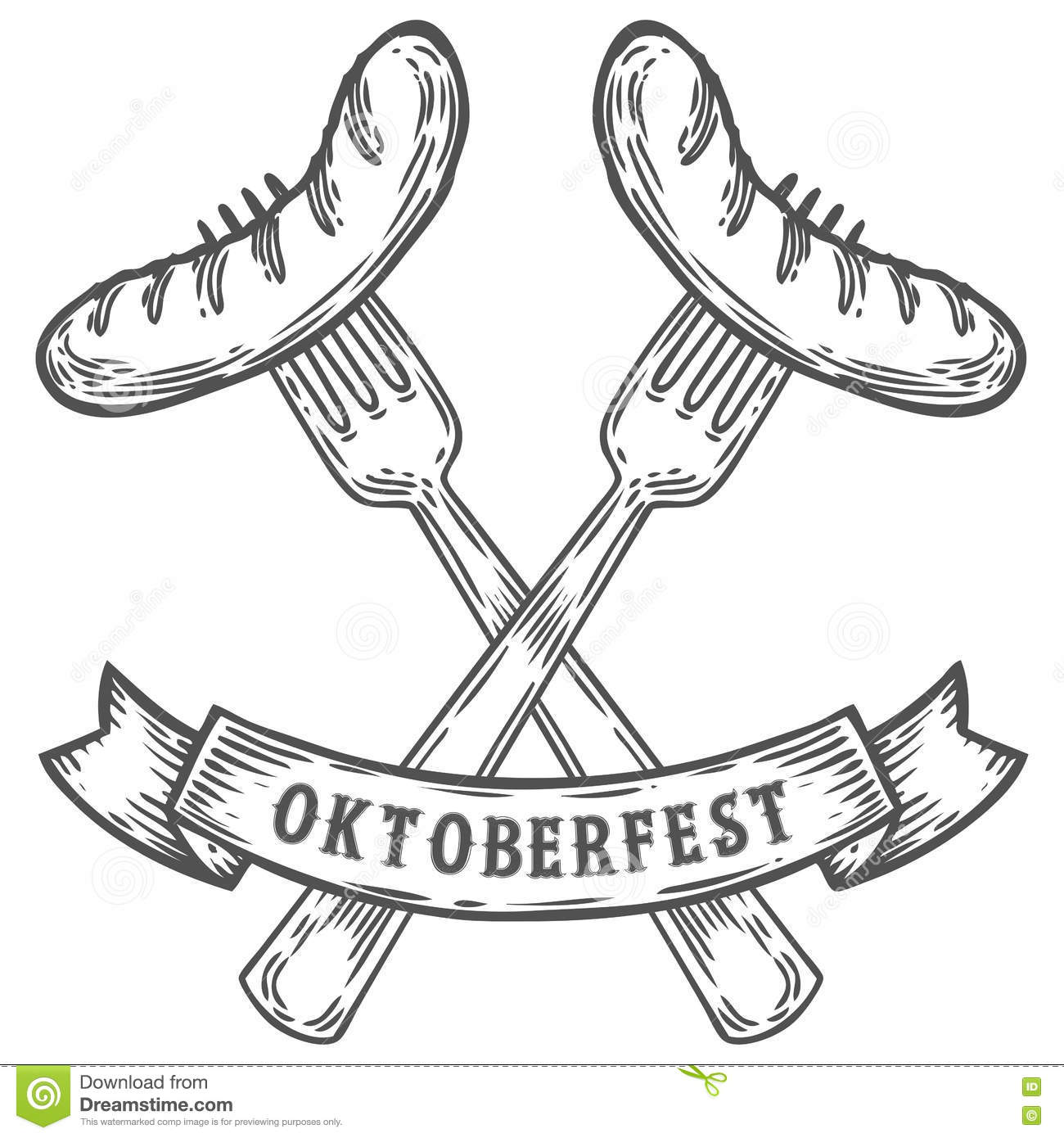 Vintage Oktoberfest Symbol Label With Girl And Bee Vector