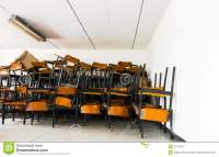 Old Abandoned Chair In The School. Stock Photo ...