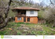 Abandoned Wooden House Stock Of