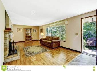 Old American House Large Living Room Interior With Hardwood Floor Stock Image Image of architecture style: 73909901