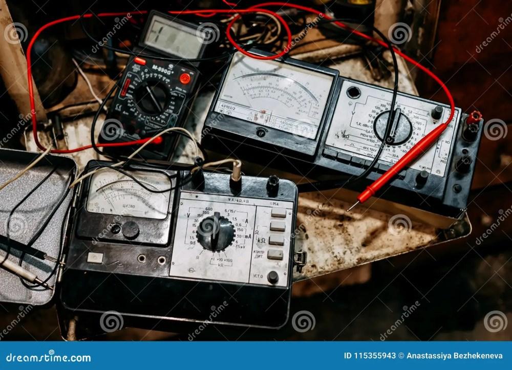 medium resolution of old ammeter electronics in garage