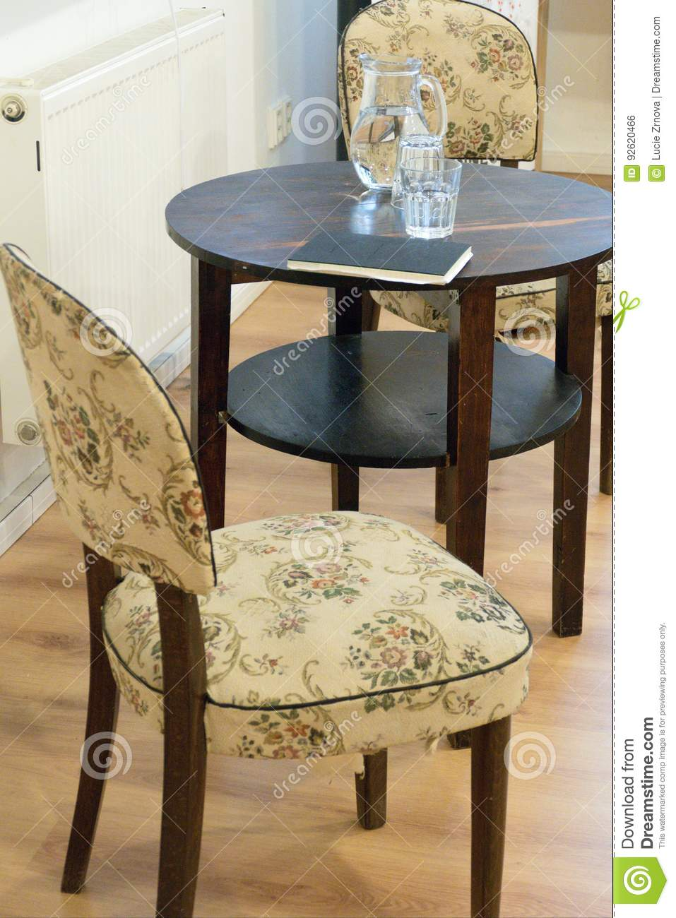 Table With Two Chairs Old Antique Table And Two Chairs Stock Photo Image Of Luxury