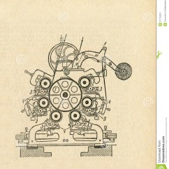 Old Scientific Diagram Holden Wb One Tonner Wiring Apparatus Stock Images Image 31175024