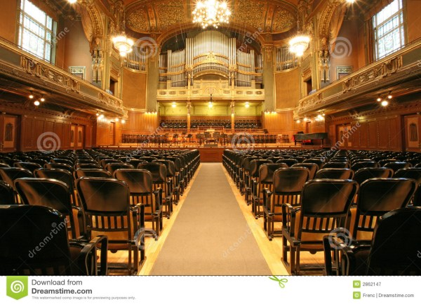 Auditorium With Organ Royalty Free Stock