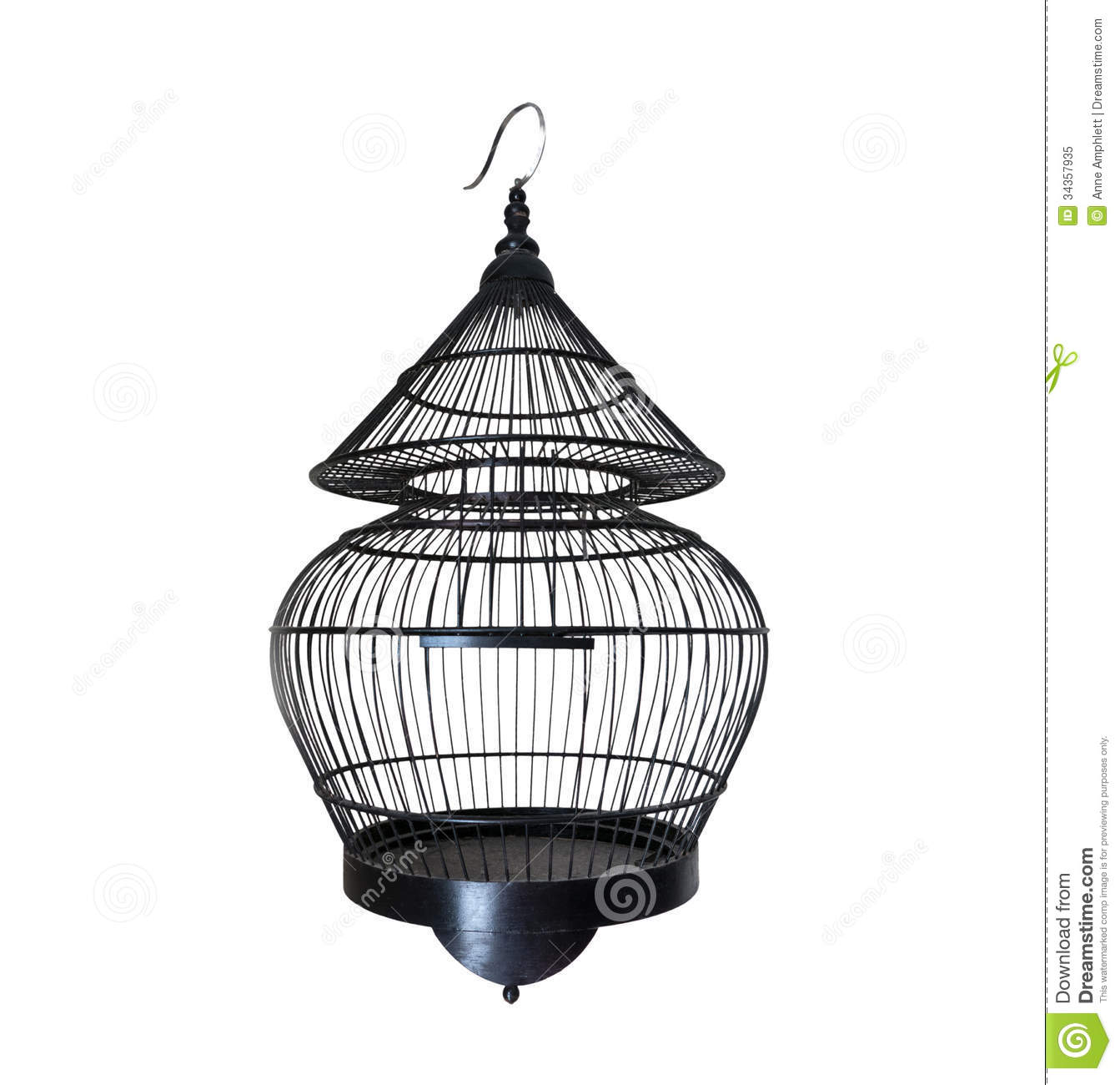 Old Black Bird Cage Royalty Free Stock Photo