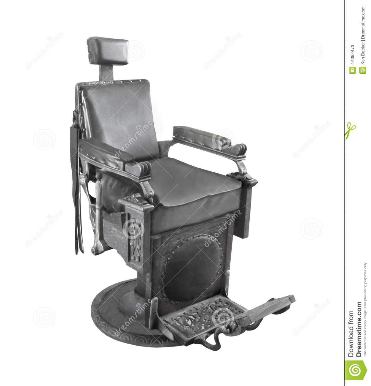 black white barber chair little rocking song old isolated stock photo image 44392473