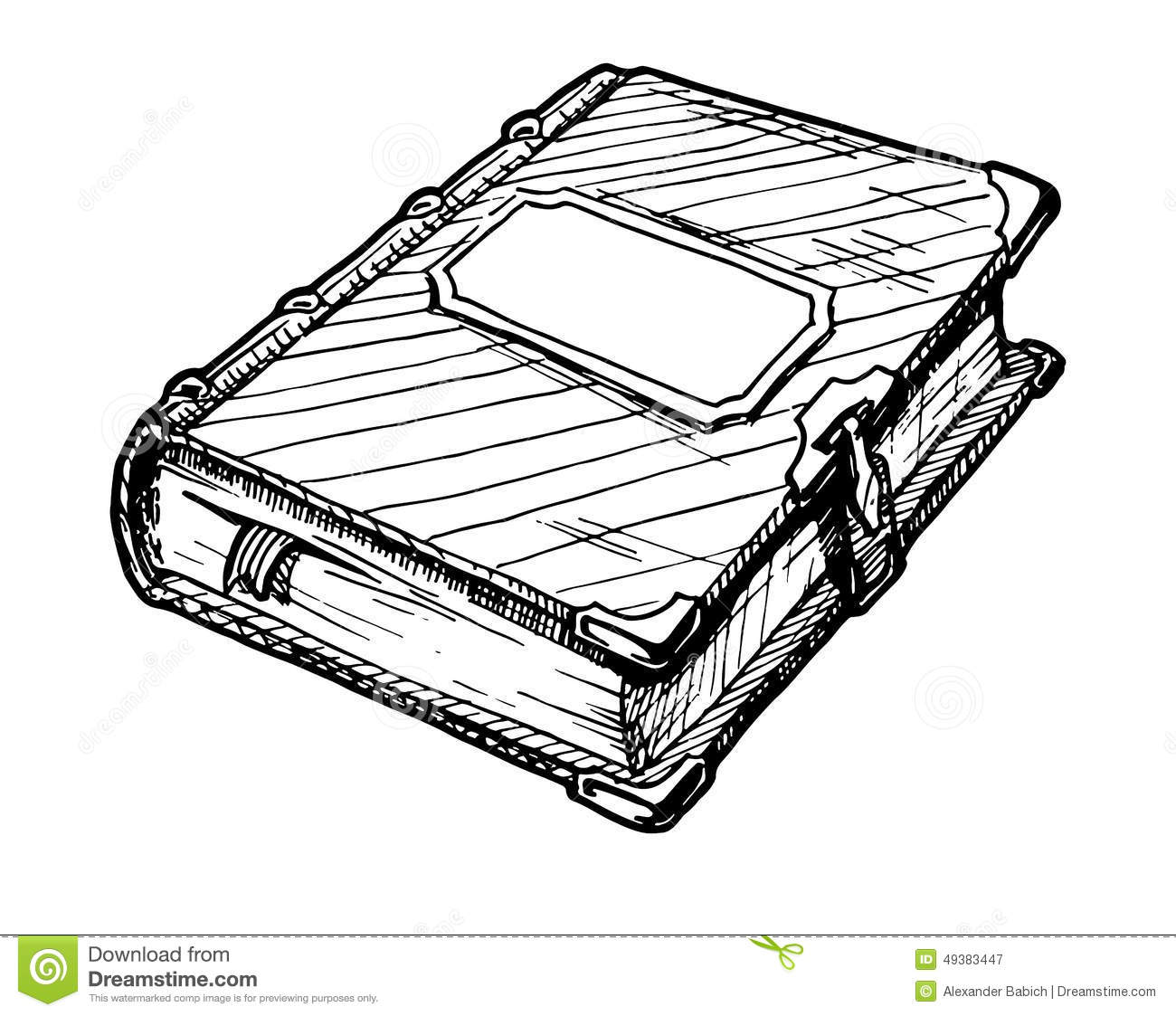 Old Book Stock Vector Illustration Of Empty Diary