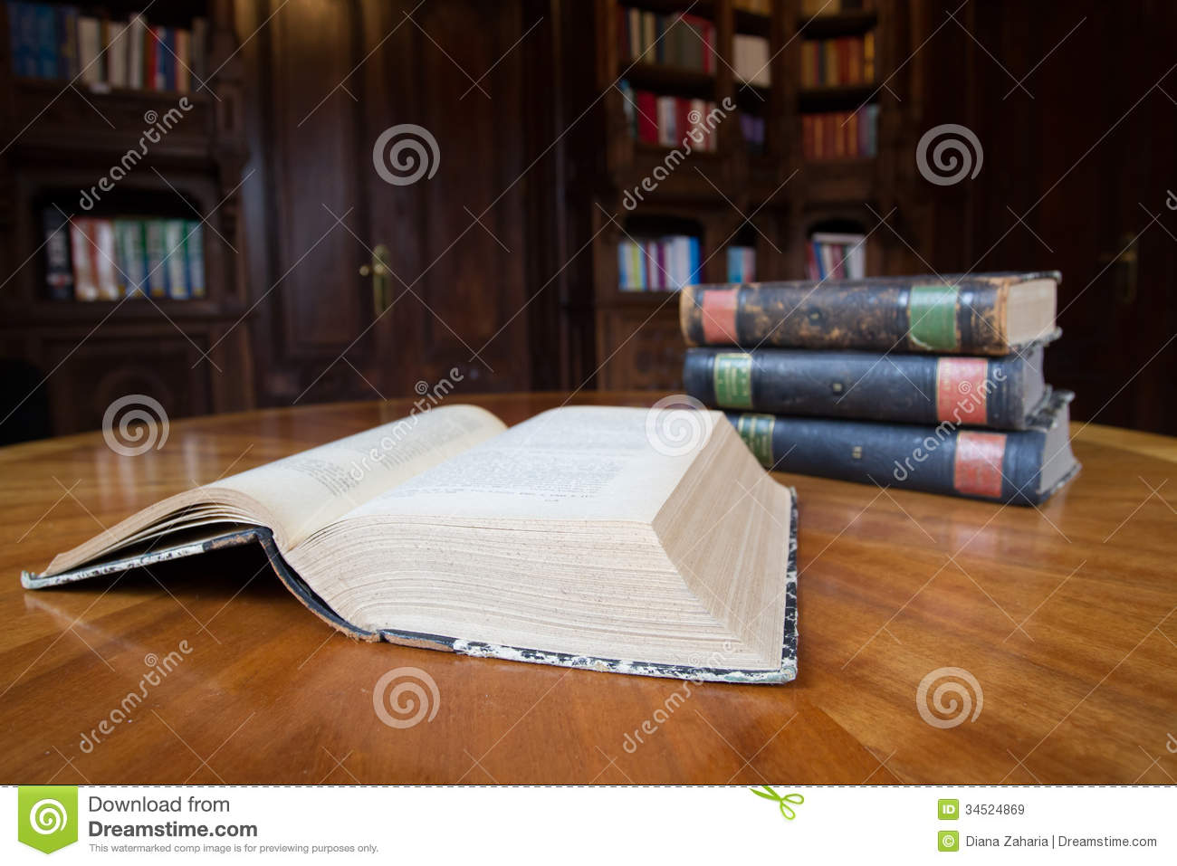 Old Books On A Table Royalty Free Stock Images Image