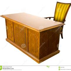 Old Office Chair And Table Roman Leg Raises Business Desk Isolated Stock Photo 28070859 Megapixl