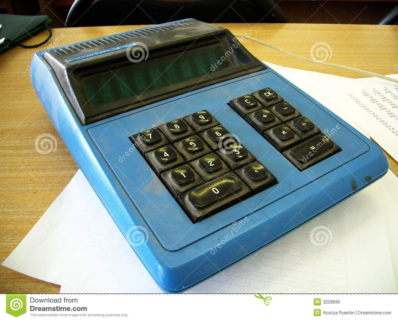 Old Calculator Royalty Free Stock Photo  Image 3228695