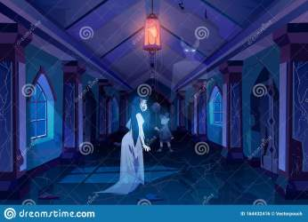 dark palace castle scary hall room ghosts walking horror