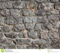 Old Castle Stone Wall Stock Photo