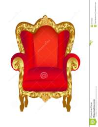 Old chair red with gold stock vector. Image of armchair ...