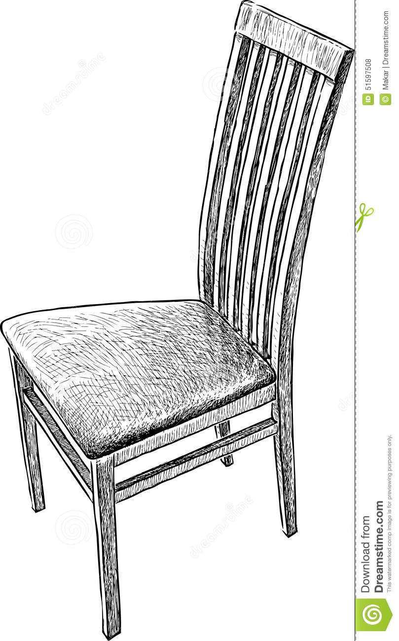 Old chair stock vector. Illustration of decoration, single