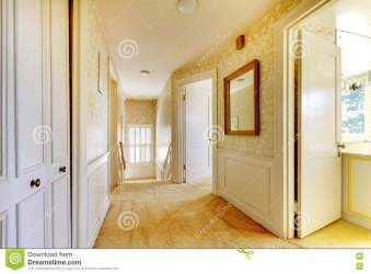 Old Classic American House Antique Interior With Wallpaper Stock Image Image of hardwood entrance: 72757943