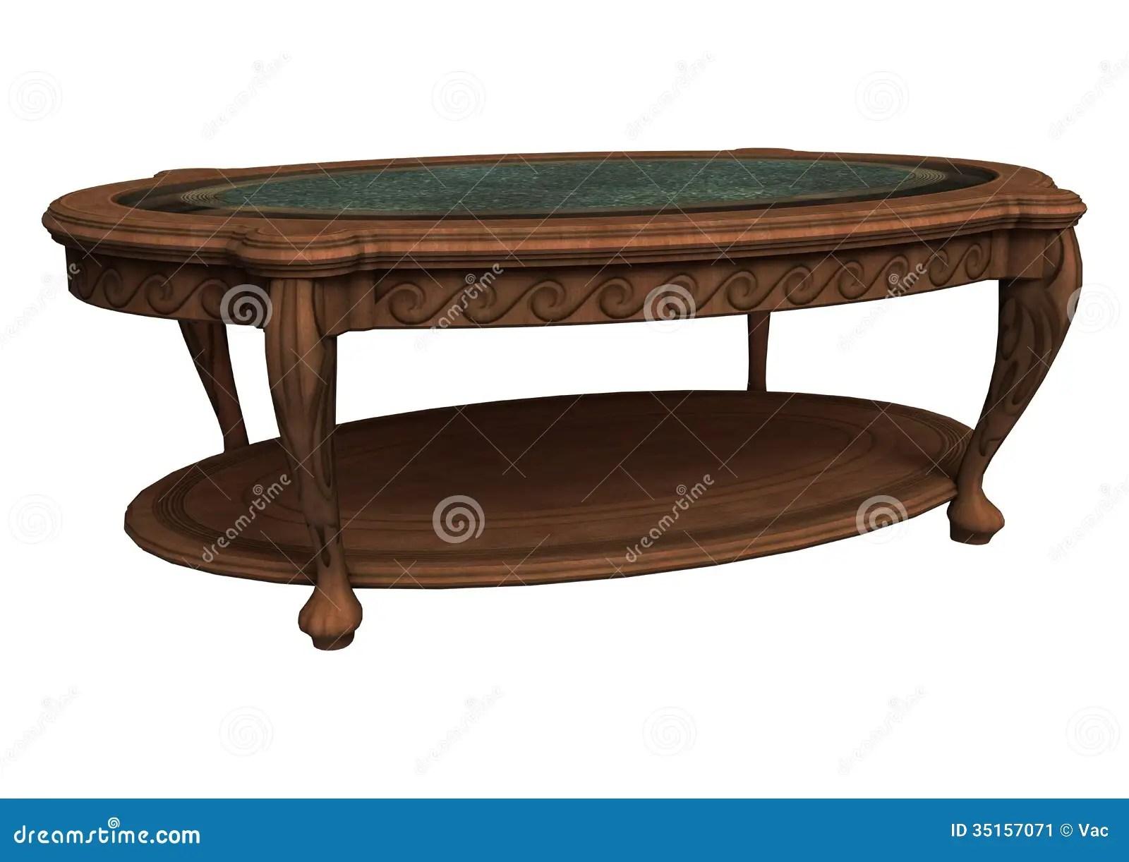 old coffee table stock illustration illustration of vintage 35157071