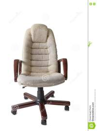 Old Crannied Office Boss Chair (armchair). Grown Old ...