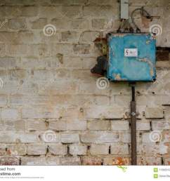 old bad rusty switch box on weathered wall stock image image of bad fuse breaker box bad fuse box [ 1300 x 1025 Pixel ]
