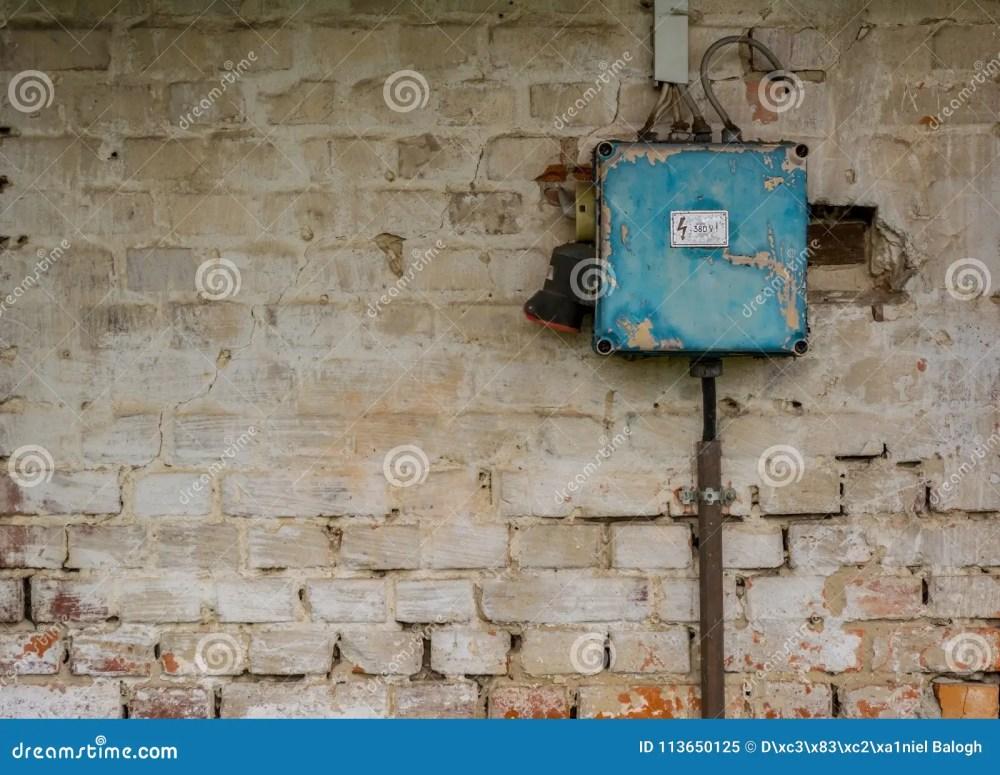 medium resolution of old bad rusty switch box on weathered wall stock image image of bad fuse breaker box bad fuse box