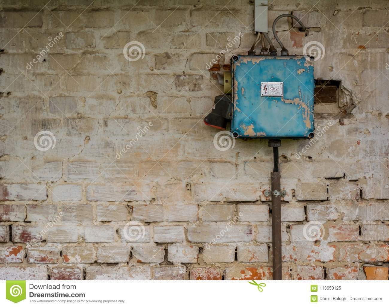 hight resolution of old bad rusty switch box on weathered wall stock image image of bad fuse breaker box bad fuse box