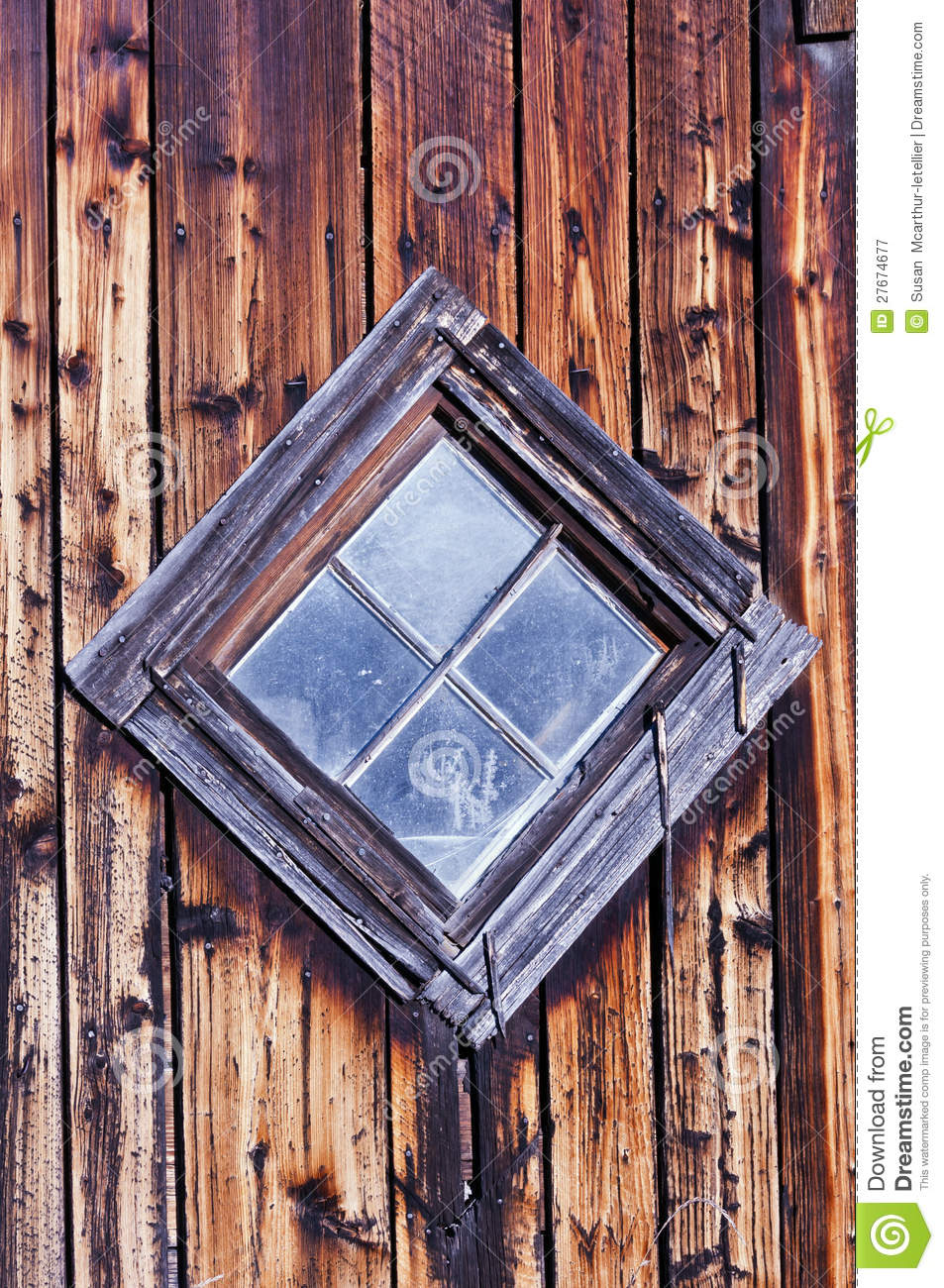 Old Diamond Shaped Barn Window Royalty Free Stock Photography  Image 27674677