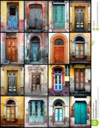 Old doors stock photo. Image of facade, brick, historical