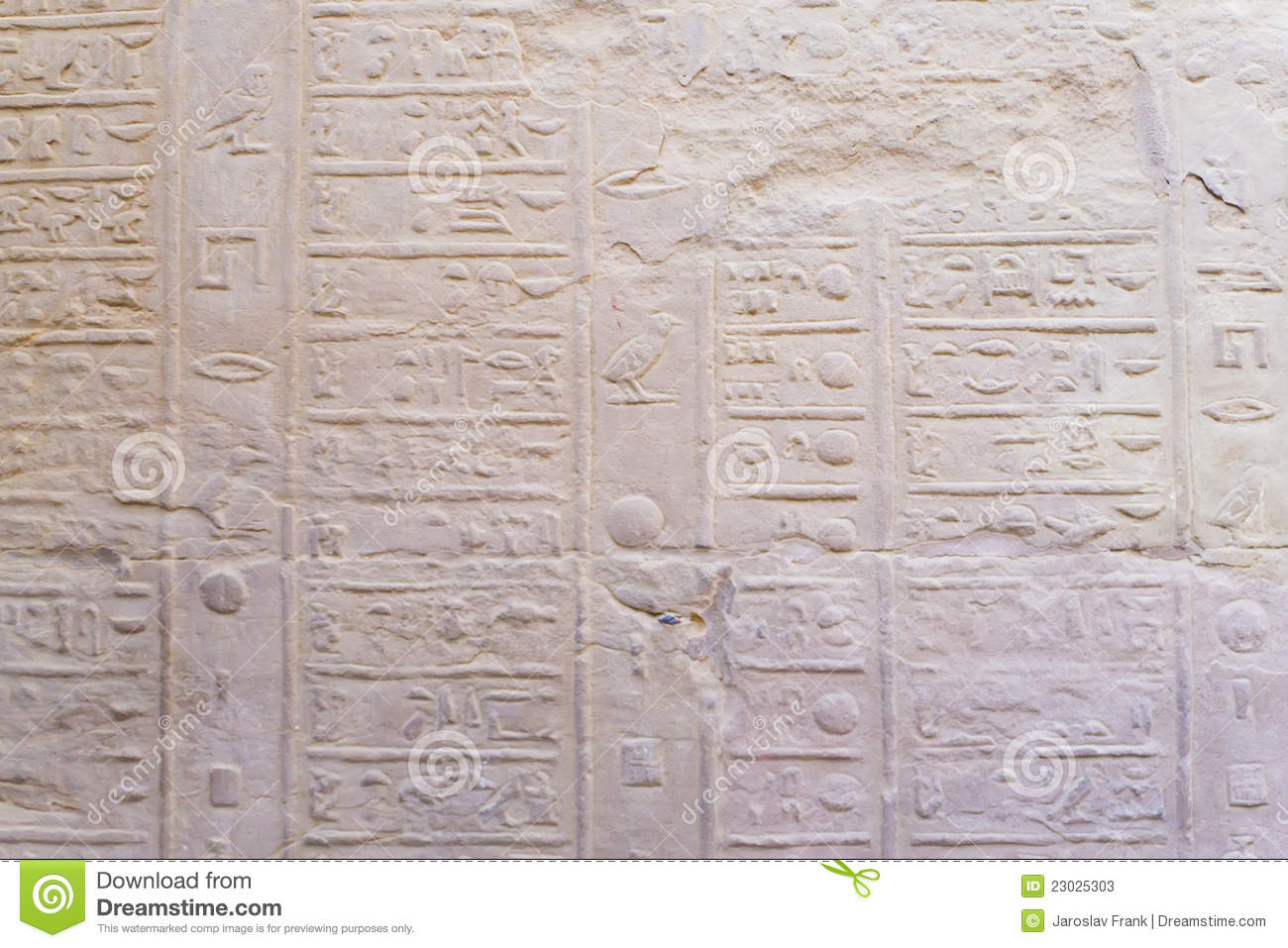 The Old Egyptian Calendar Stock Image Image Of Texture