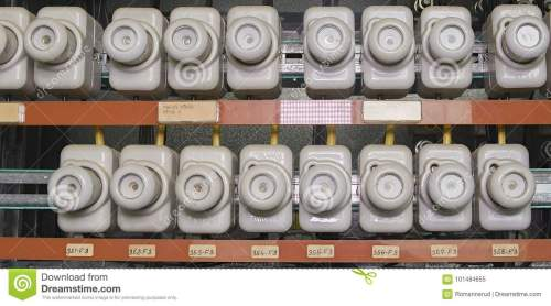 small resolution of old electrical fuse box with porcelain fuses