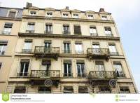 Old European Apartments With Balconies Royalty Free Stock ...