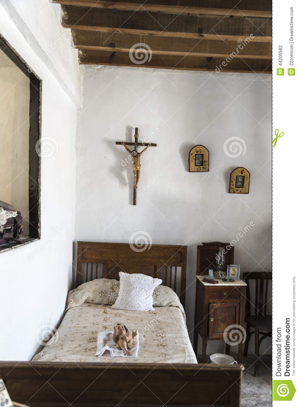 Old Farmhouse Bedroom Editorial Photography  Image 44200582