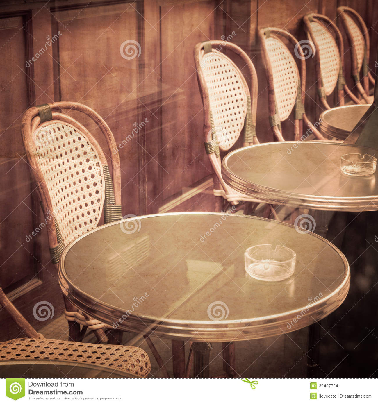 old fashioned coffee terrace with tables and chairs paris france stock photo image of cutlery party 39487734