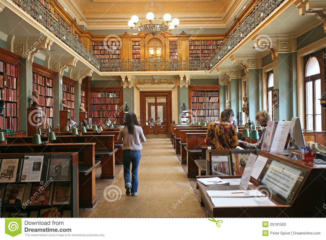 Old Fashioned Library Editorial Photography  Image 25191502