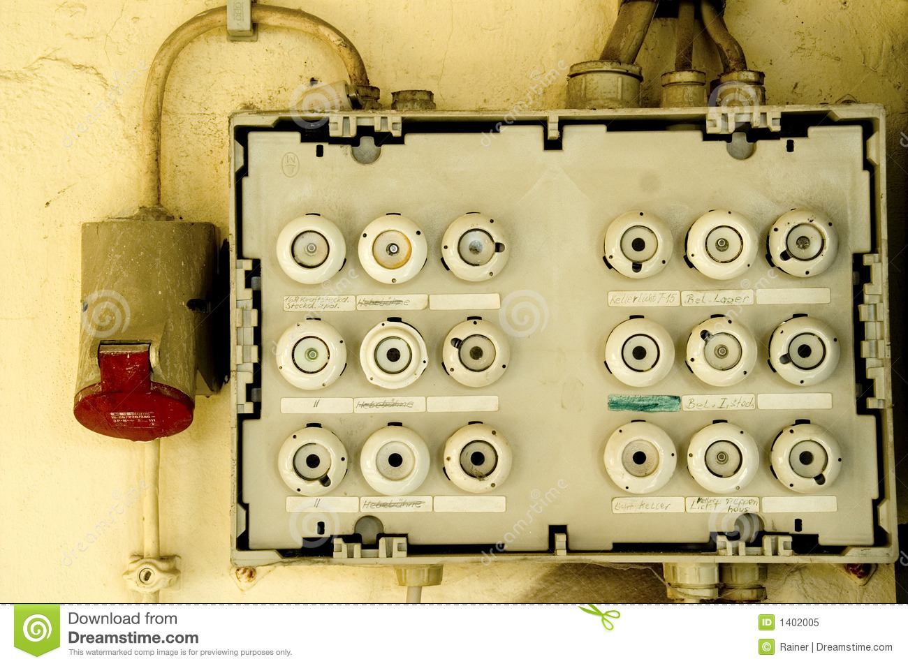 Old Fuse Box Royalty Free Stock Photo