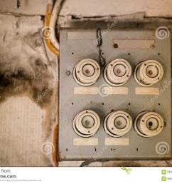 download old fuse box in an abandoned house stock photo image of power obsolete [ 1300 x 958 Pixel ]