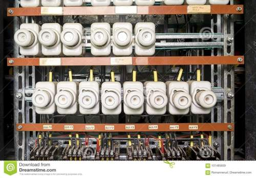 small resolution of an old fuse box with cables and contactors old electrical panel electrical box