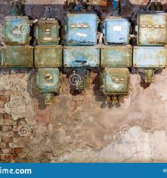 old fuse box in an old abandoned factory stock photo image ofold fuse box in an [ 1600 x 1053 Pixel ]