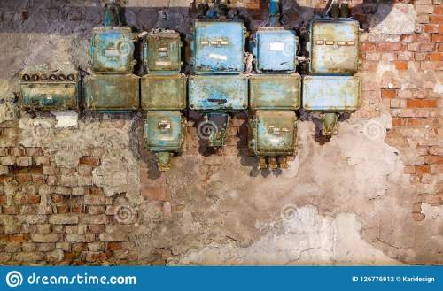 small resolution of old fuse box in an old abandoned factory stock photo image ofold fuse box in an