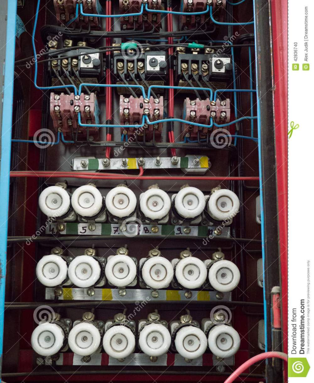 medium resolution of old fuse box on the wall stock photo image of electrics apartment has an old fuse box apartment has an old fuse box