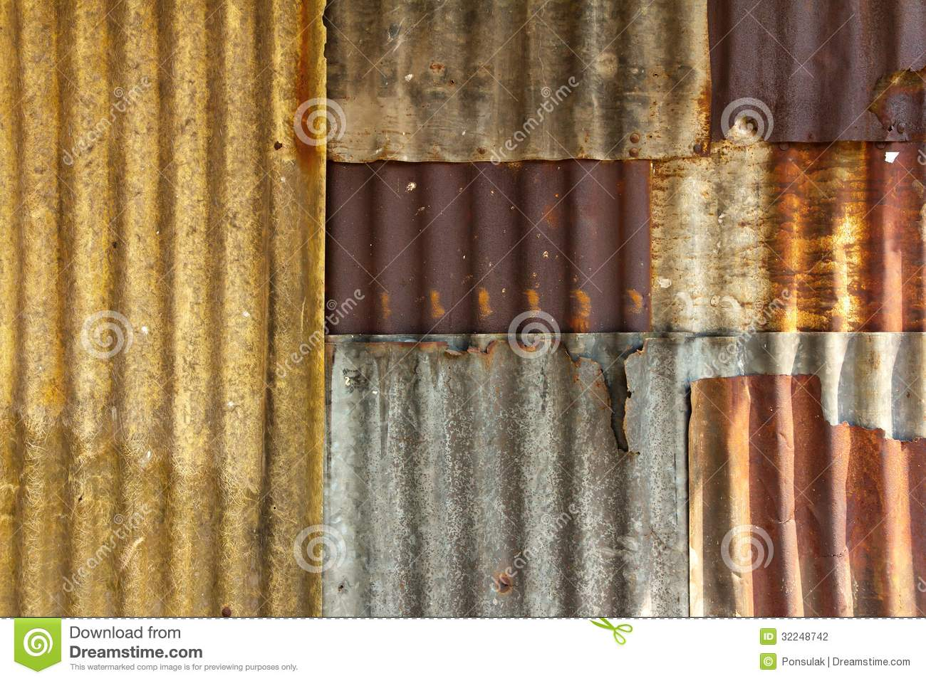 Grunge Girl Wallpaper Old Galvanized Steel Wall Stock Photography Image 32248742