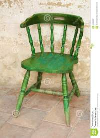The Old Green Chair Royalty Free Stock Photography