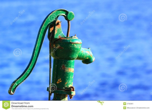 Green Water Pump Handle Stock - Of