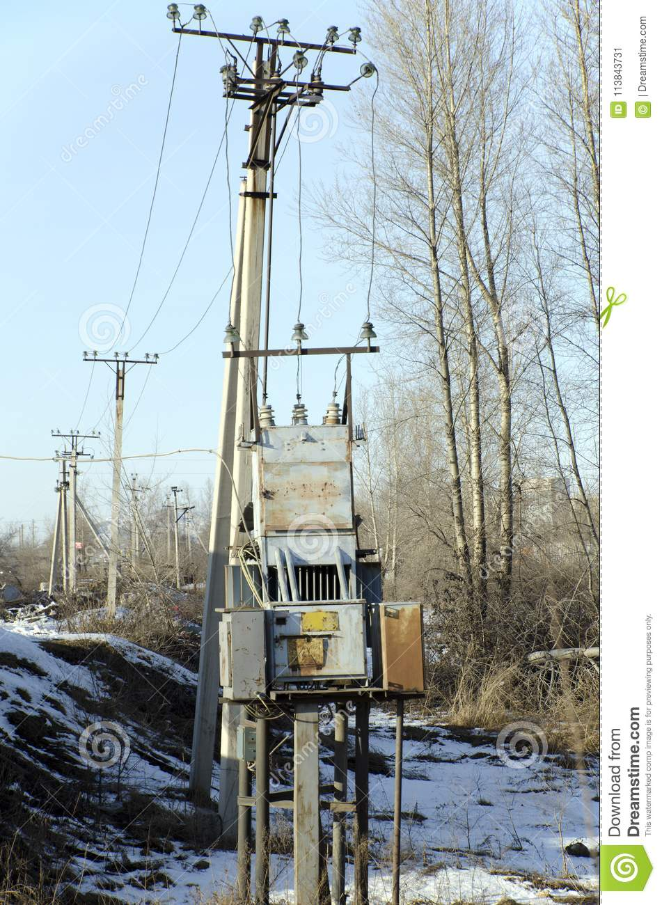 hight resolution of old high voltage transformer installed right on the street electrical industry