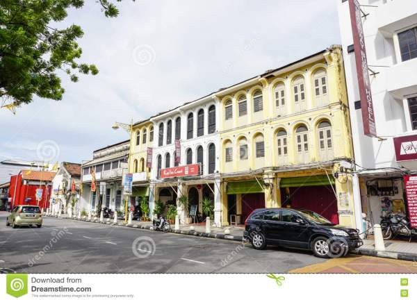 Facade Of Chinese Temple In Melaka Malaysia Editorial