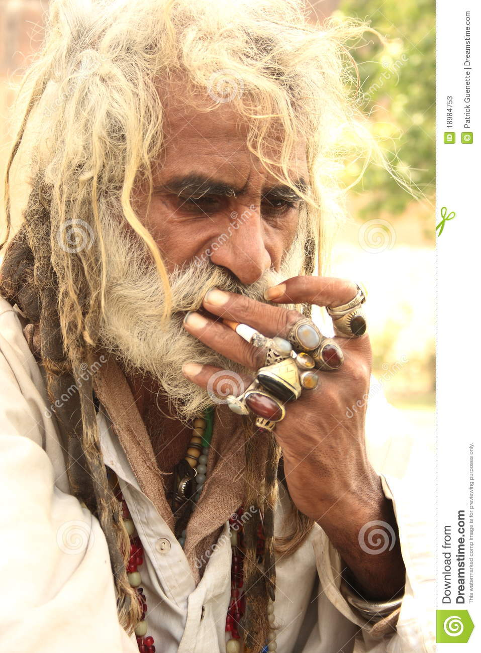Old Indian Male With Dreadlock Hair Editorial Stock Photo