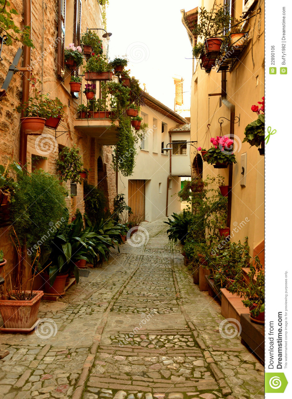 Old Italian Alleyway stock photo Image of design ancient