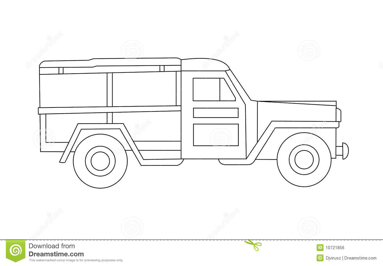 Old Jeep Stock Illustration Image Of Opel S