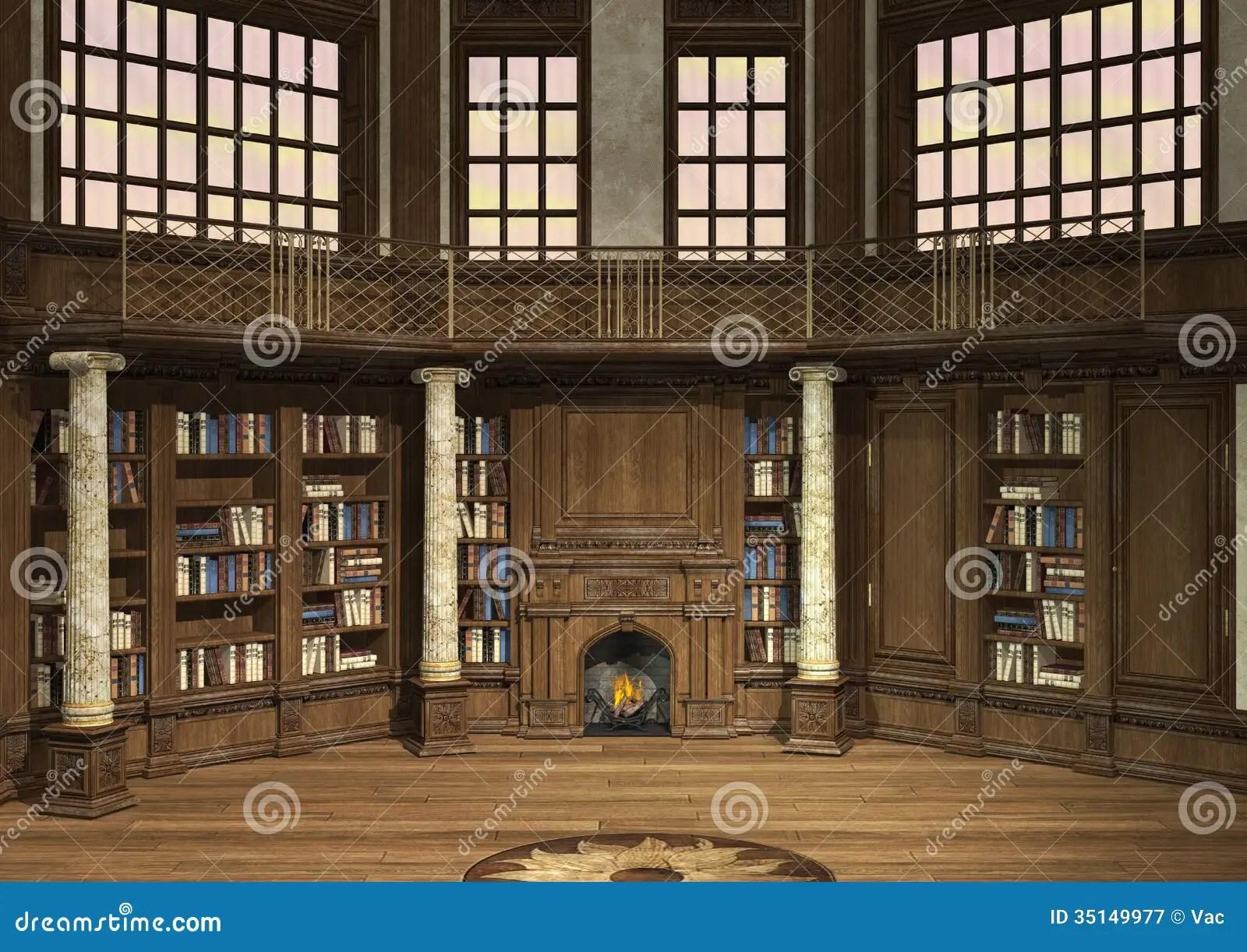 Old Library stock illustration Illustration of study