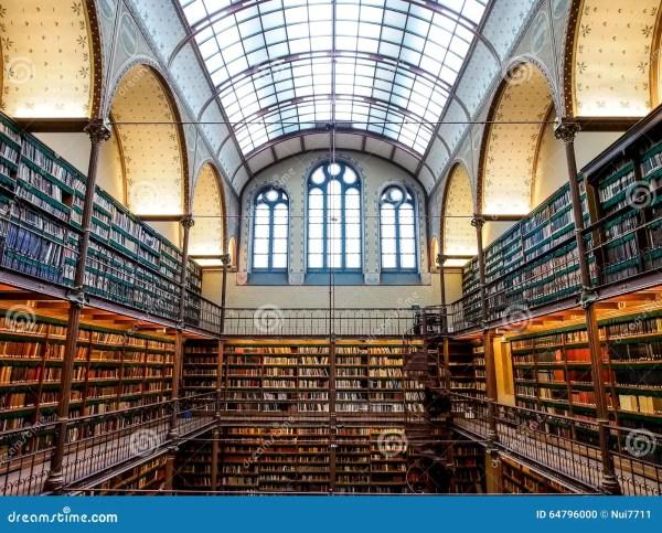 Library Of Rijksmuseum Amsterdam Editorial